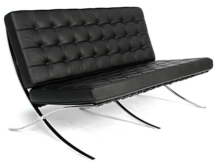 Pavilion Loveseat By 100% Italian Leather  In Stock!   Click To Enlarge