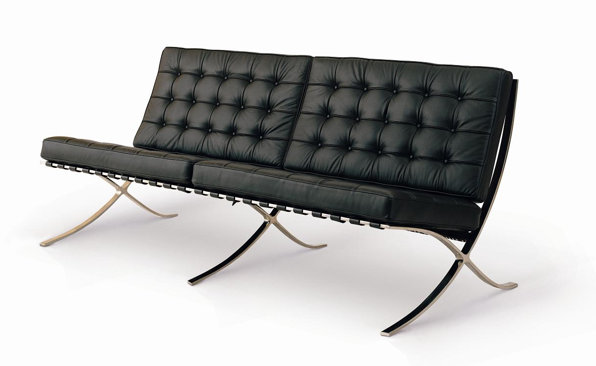 shop barcelona sofa by mies van der rohe 71 for only 1695. Black Bedroom Furniture Sets. Home Design Ideas