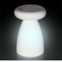 Porcino Stool with Light Lamp by Serralunga