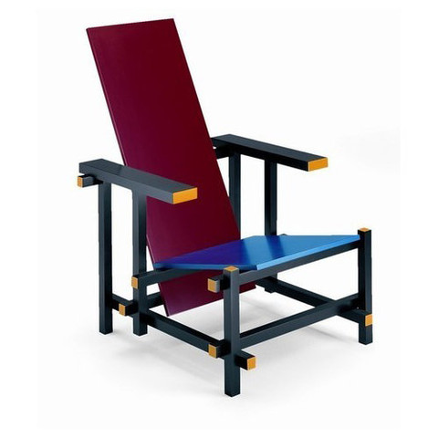 rietveld-armchair-red-blue - Click to enlarge