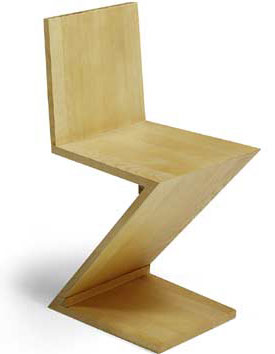 Rietveld zig zag chair click to enlarge for Chaise zig zag
