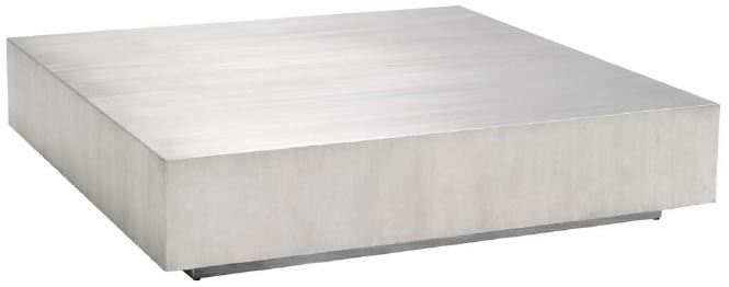 Siren Low Profile Stainless Steel Coffee Table