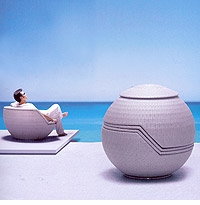 """Sphere"" Stacking Rattan Patio Furniture Set"