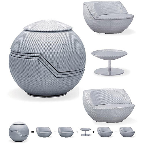 Shop Sphere Stacking Rattan Patio Furniture Set For Only 3150