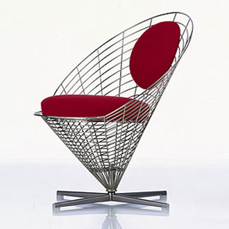 shop wire cone chair by panton verner at discount price