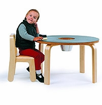 Woody Chalkboard Table for Kids by Offi