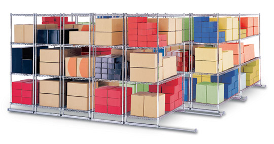 X5 Track Shelving - Click to enlarge