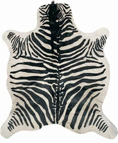 Zebra with mane rugs