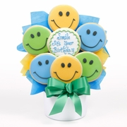 Birthday Smiles Cutout Cookie Bouquet