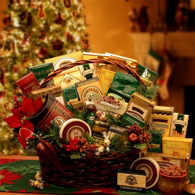 Holiday Gift Baskets - Grand Gatherings Holiday Gourmet Gift Basket