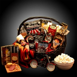 """""""He's A Motorcycle Man"""" Gift Basket"""