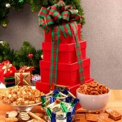 Holiday Sweets N Treats Gift Tower