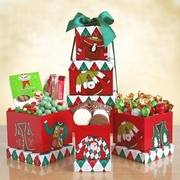 """Holiday """"Ugly Sweater"""" Snack Tower"""