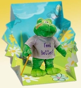 """Hoppy"" The Singing Get Well Frog"