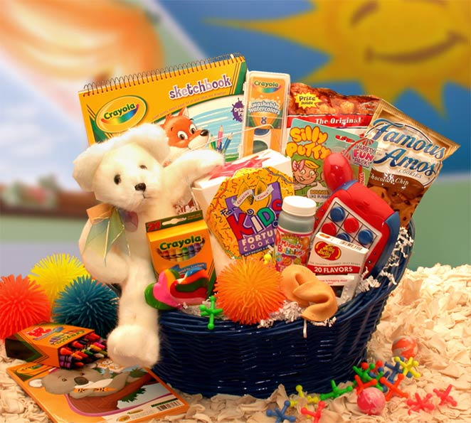 gift baskets for children kids stop activity basket