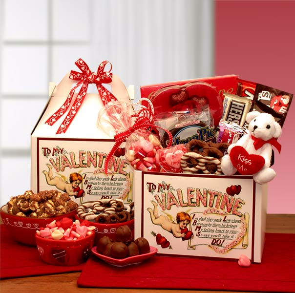 Valentine Baskets Love Notes To My Valentine Care Package