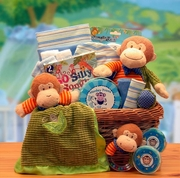 """New Little Monkey"" Baby Gift Basket"