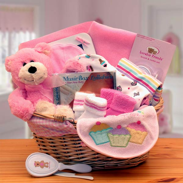 Baby Gift Basket Contents : New baby gift baskets simply the basics
