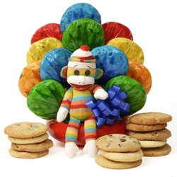 Sock Monkey Cookie Bouquet