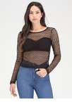 Into The Net Sheer Long-Sleeve Top