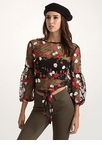 Sheer Me Yours Tied Floral Top