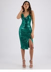 Party Hopper Sequined Surplice Dress