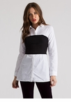Cher Called Layered Button-Up Blouse