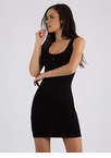 Snap To It Ribbed Henley Dress