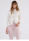 Romantic Ruffles High-Low Blouse