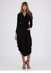 Pardon My Trench Belted High-Low Dress