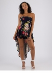 Floral Fresh Strapless High-Low Romper