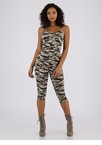 See Me Now Camo Capri Jumpsuit