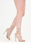 Catwalk Strappy Faux Patent Heels