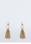 Clearly Cubed Chain Tassel Earrings