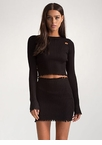 Distress Relief Ribbed Two-Piece Dress