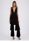 First Tier Plunging Ruffled Jumpsuit