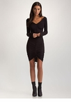 Flattering Curves Plunging Ruched Dress