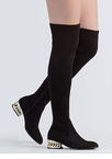 Form A Chain Heel Thigh-High Boots