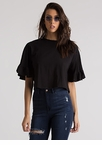 Frilled To Bits Ruffle Sleeve Crop Top