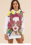 Ice Cream Social Graphic Hoodie Dress
