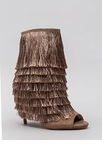 It Factor Shaggy Fringed Booties
