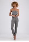 Look No More Strapless Jogger Jumpsuit