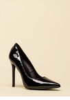 Lookin' Sharp Pointy Faux Patent Pumps