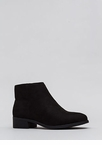 On The Block Chunky Faux Suede Booties