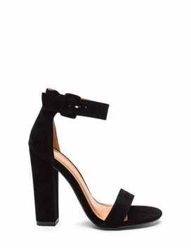 fdeb3de0c4b Perfection Chunky Faux Suede Heels