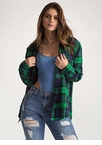 Plaid To The Bone Flannel Button-Up