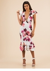 Pretty In Petals Ruffled Floral Dress