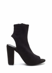 Take A Peep-Toe Chunky Cut-Out Booties