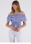 Top Of The Line Ruffled Off-Shoulder Top