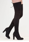 Walk Tall Faux Suede Thigh-High Boots